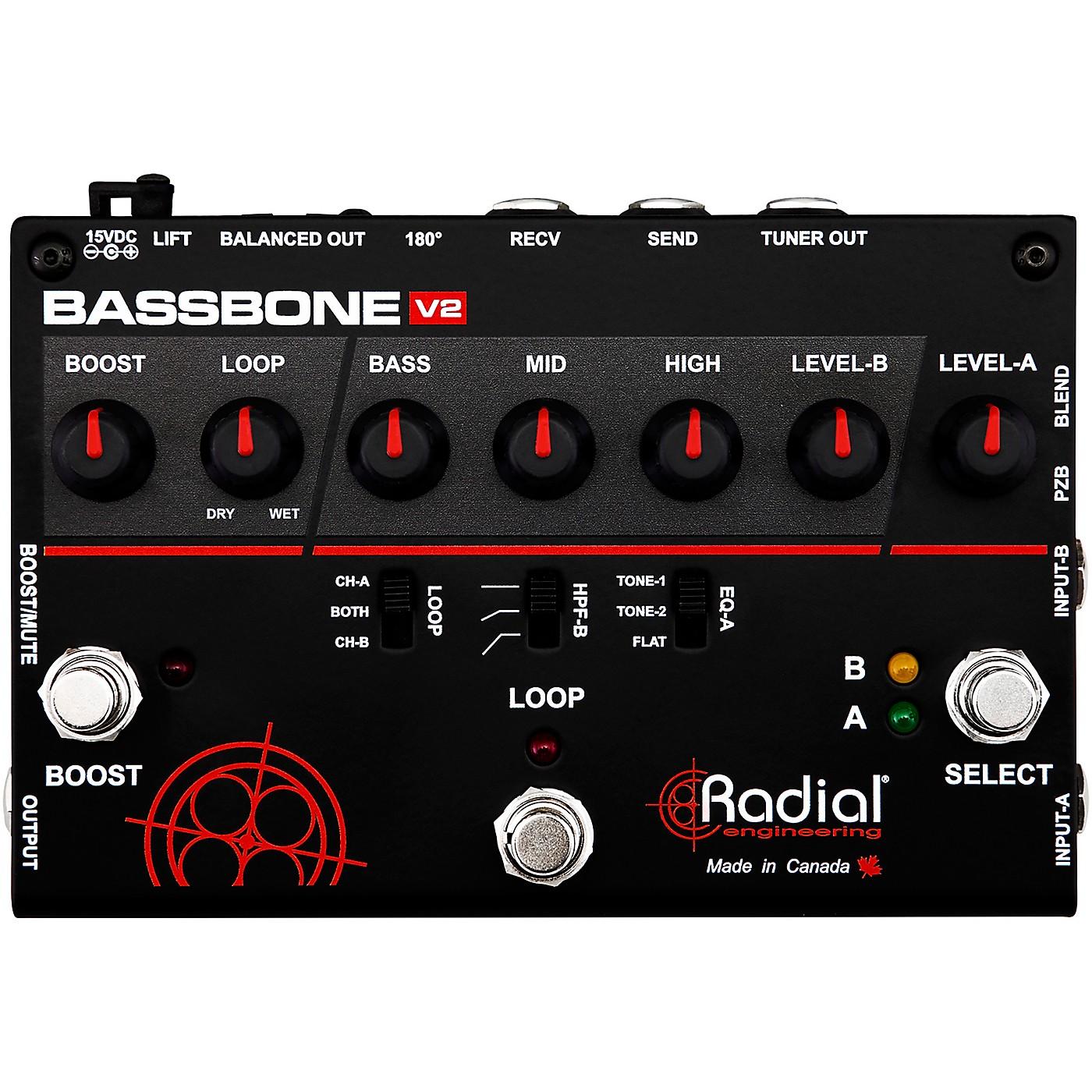 Radial Engineering Bassbone V2 Bass Preamp and DI Box thumbnail