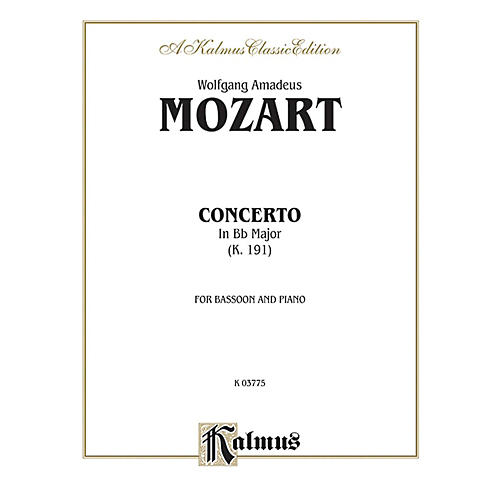 Alfred Bassoon Concerto K. 191 for Bassoon By Wolfgang Amadeus Mozart Book thumbnail