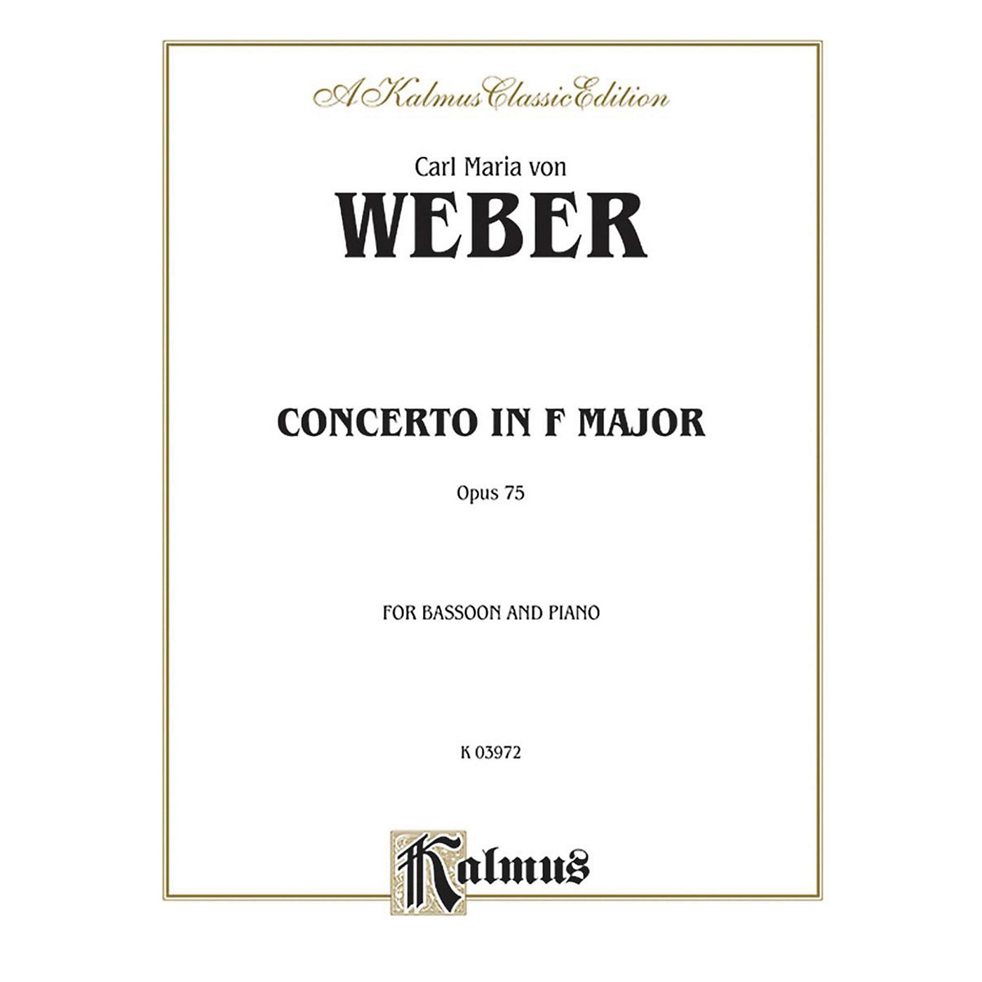 Alfred Bassoon Concerto Op. 75 for Bassoon By Carl Maria von Weber Book thumbnail