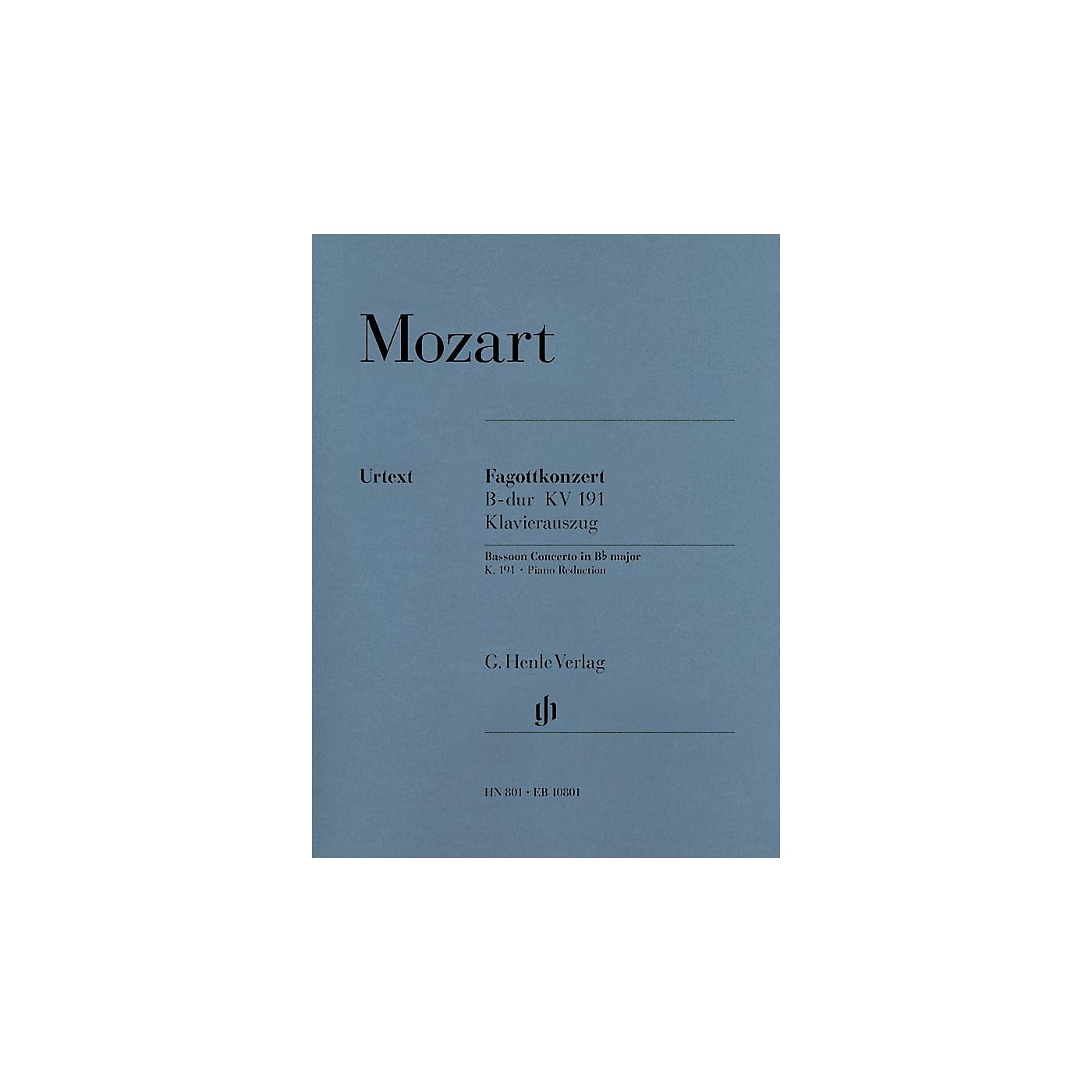 G. Henle Verlag Bassoon Concerto in B-flat Major, K. 191 Henle Music Folios Series Softcover thumbnail