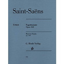 G. Henle Verlag Bassoon Sonata, Op. 168 Henle Music Folios Softcover Composed by Camille Saint-Saëns Edited by Peter Jost