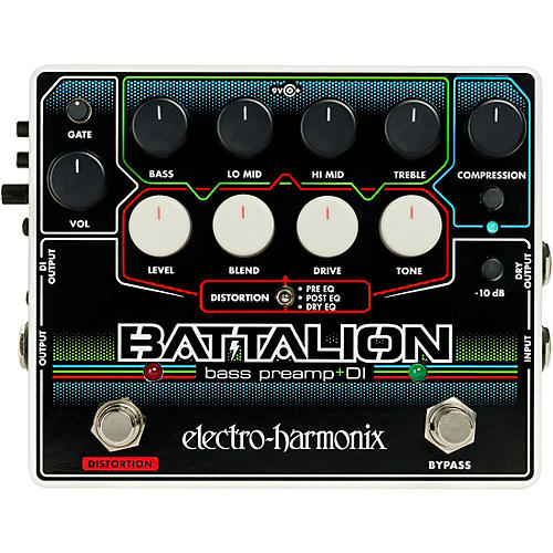 Electro-Harmonix Battalion Bass Preamp and DI Pedal thumbnail