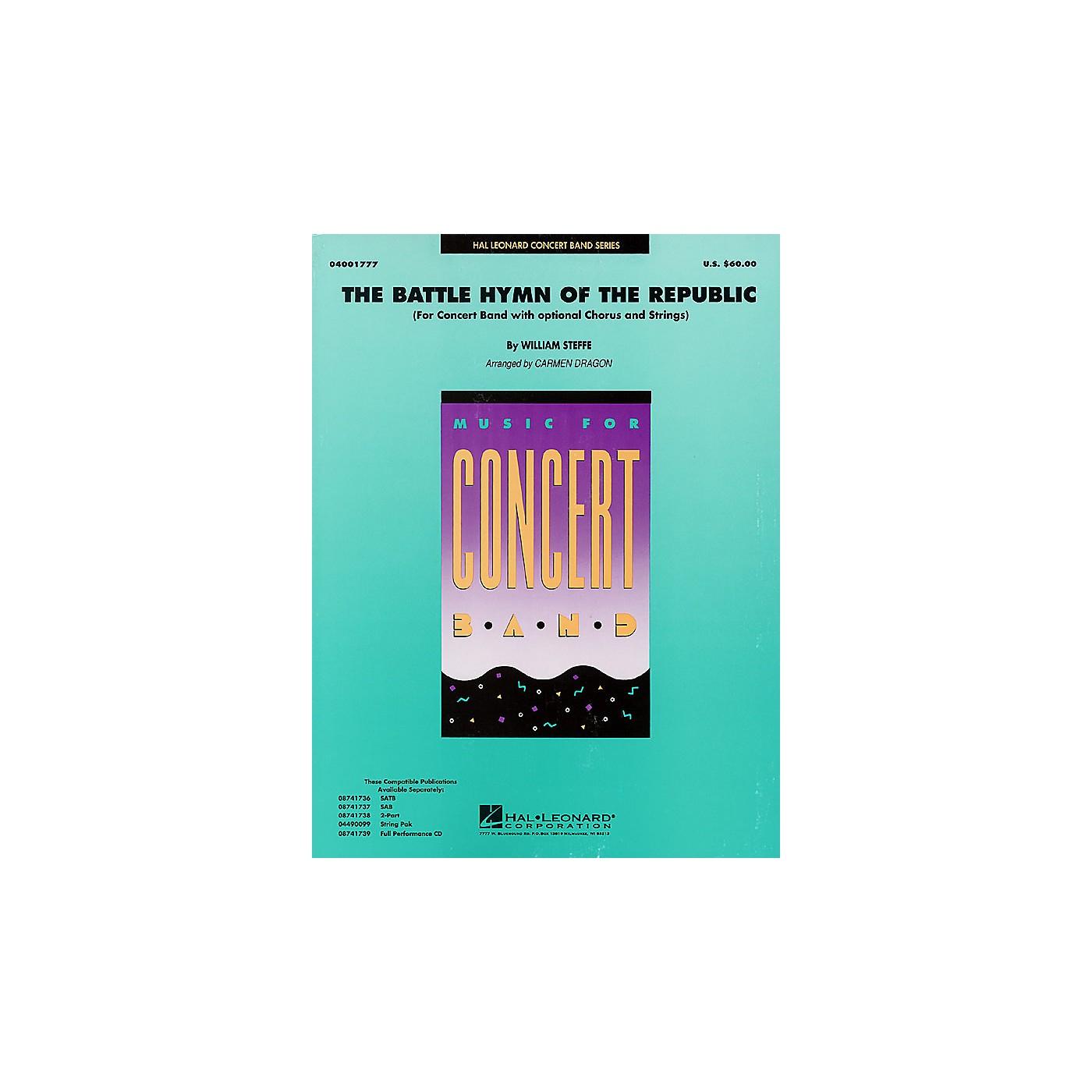 Hal Leonard Battle Hymn of the Republic (Grade 4-5 Concert Band with Choir) Concert Band Level 4-5 by John Moss thumbnail