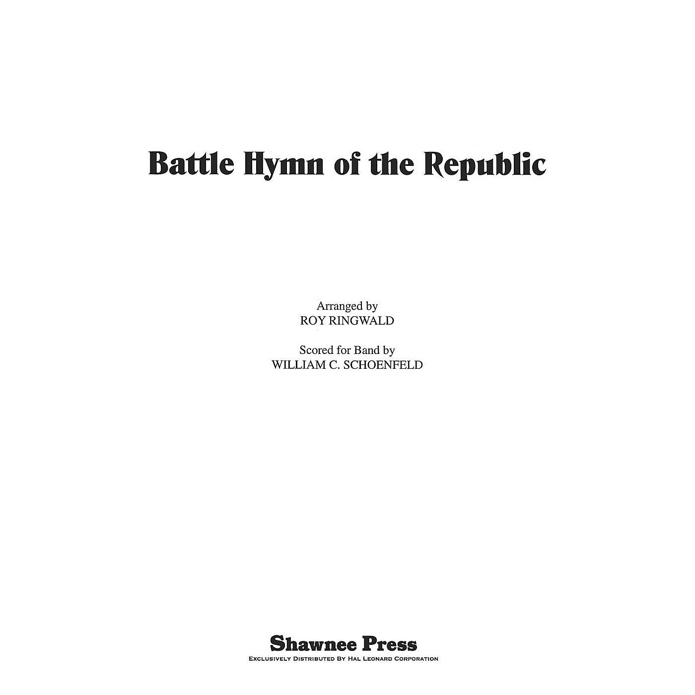 Hal Leonard Battle Hymn of the Republic Score & Parts Arranged by Roy Ringwald thumbnail