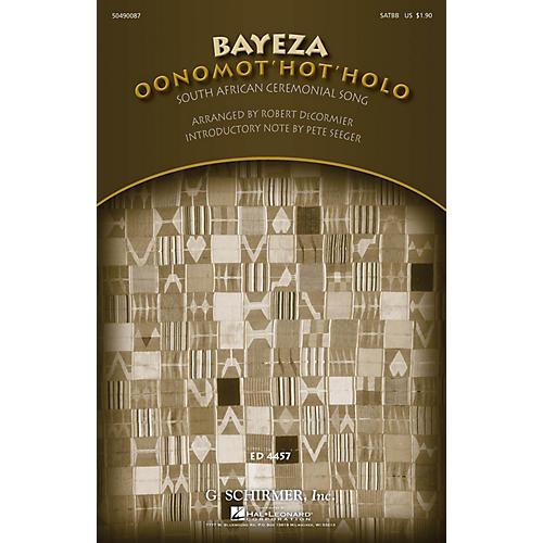 G. Schirmer Bayeza (Oonomot'hot'holo) (Ceremonial Song) SATBB arranged by Robert DeCormier thumbnail