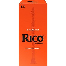 Rico Bb Clarinet Reeds, Box of 25