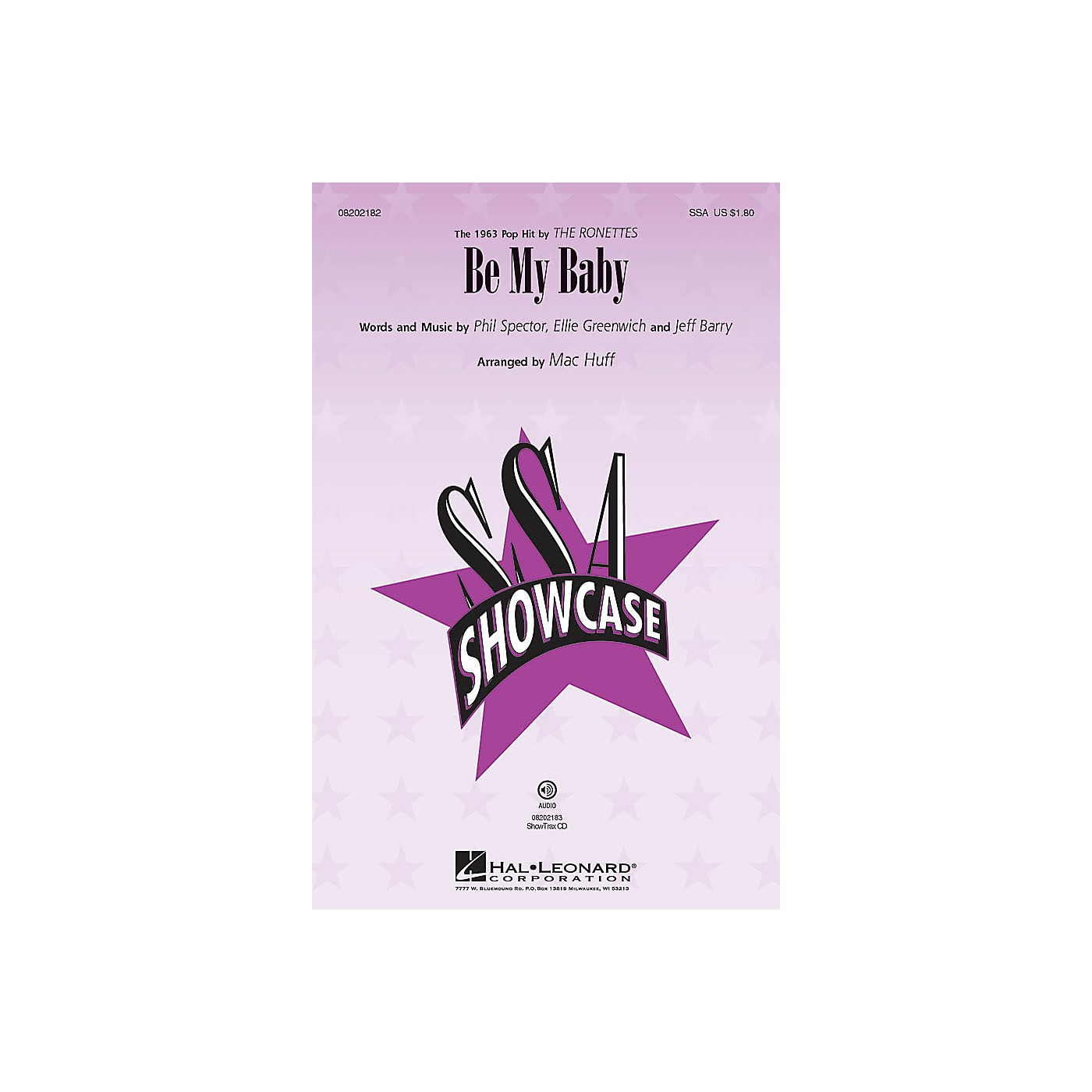 Hal Leonard Be My Baby ShowTrax CD by The Ronettes Arranged by Mac Huff thumbnail