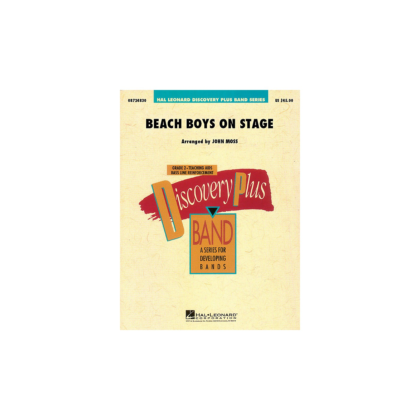 Hal Leonard Beach Boys on Stage - Discovery Plus Concert Band Series Level 2 arranged by John Moss thumbnail