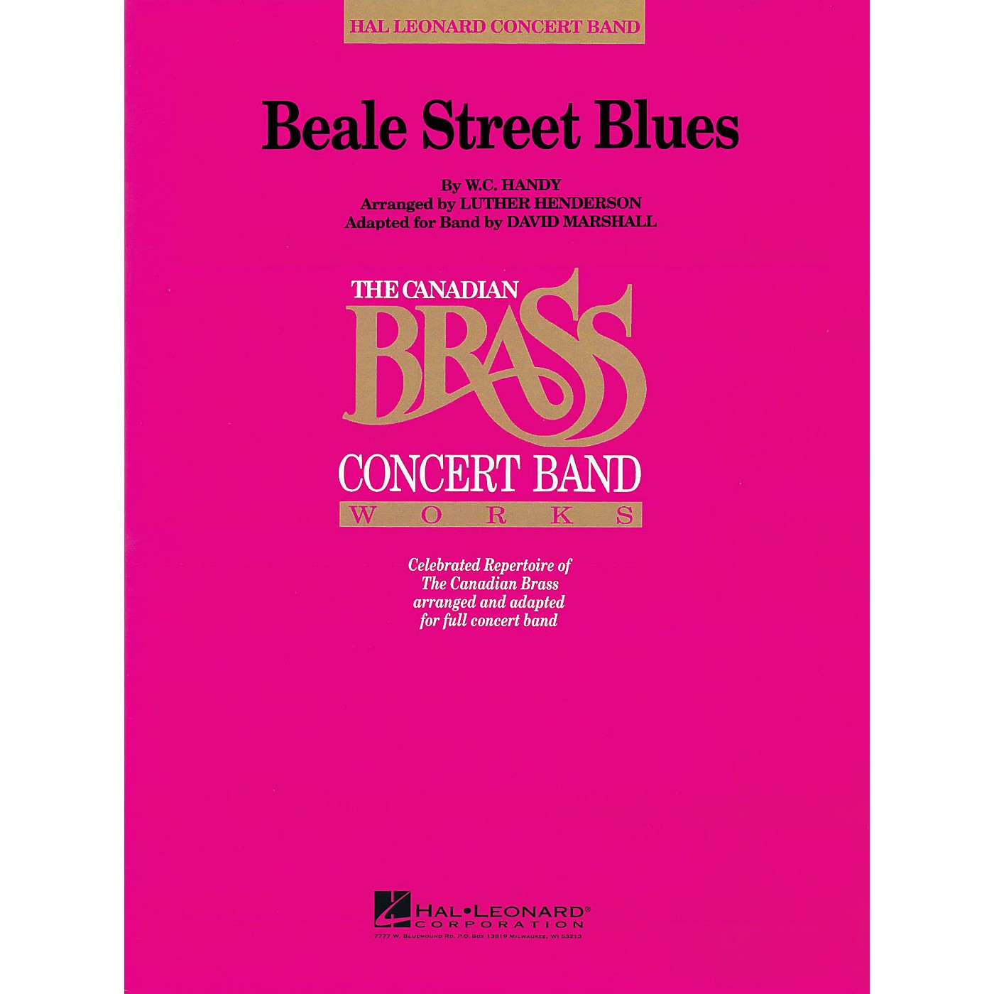 Hal Leonard Beale Street Blues Concert Band Level 4 Composed by W.C. Handy thumbnail