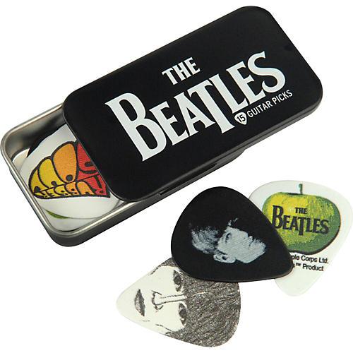 D'Addario Planet Waves Beatles Logo Pick Tin - 15 Medium Picks-thumbnail