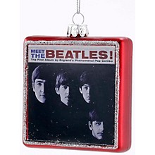 "Kurt S. Adler Beatles ""Meet The Beatles"" Glass Album Cover Ornament"