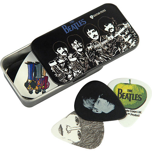 D'Addario Planet Waves Beatles Sgt. Pepper's Pick Tin - 15 Medium Picks-thumbnail