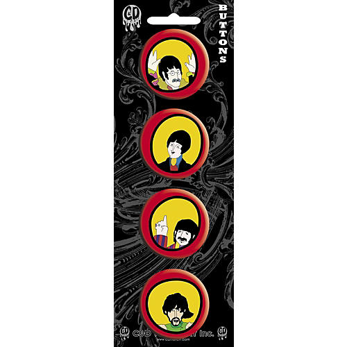 C&D Visionary Beatles Yellow Submarine Button set (4 piece) thumbnail