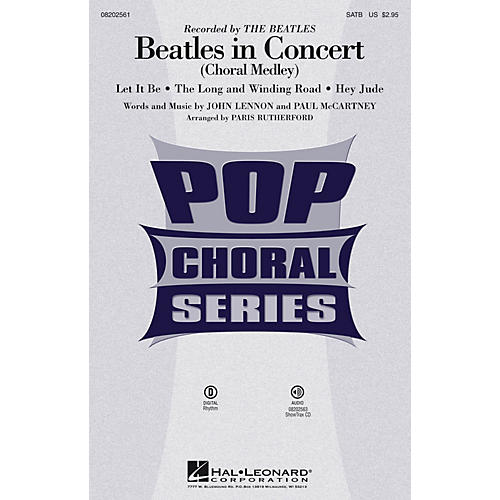 Hal Leonard Beatles in Concert (Choral Medley) ShowTrax CD by The Beatles Arranged by Paris Rutherford thumbnail