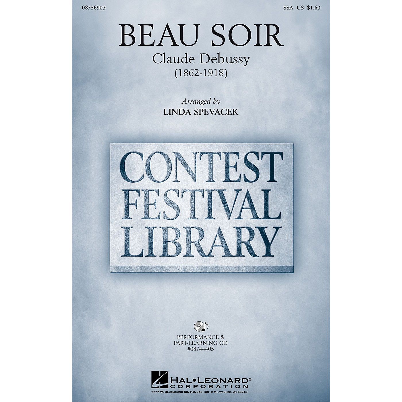 Hal Leonard Beau Soir SSA arranged by Linda Spevacek thumbnail