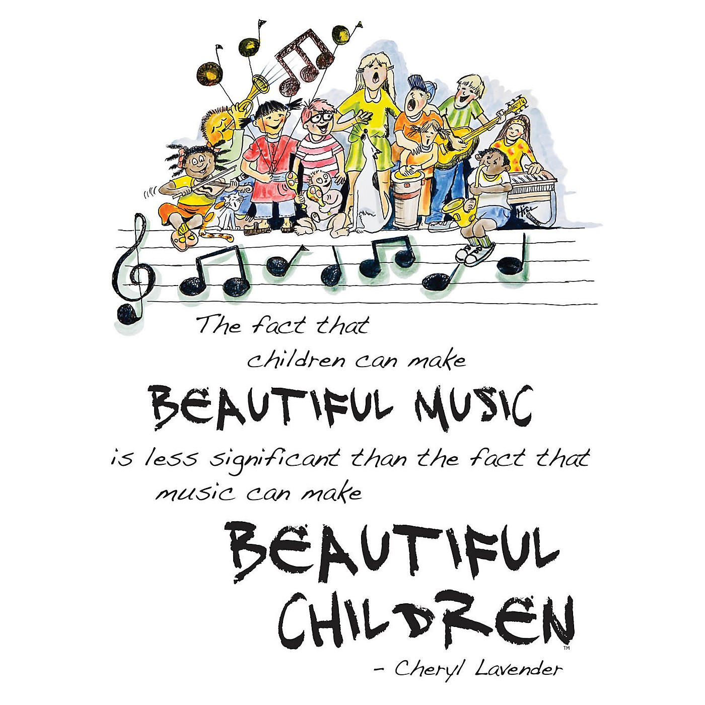 Hal Leonard Beautiful Music, Beautiful Children Poster (18x24 Framed Poster) Composed by Cheryl Lavender thumbnail