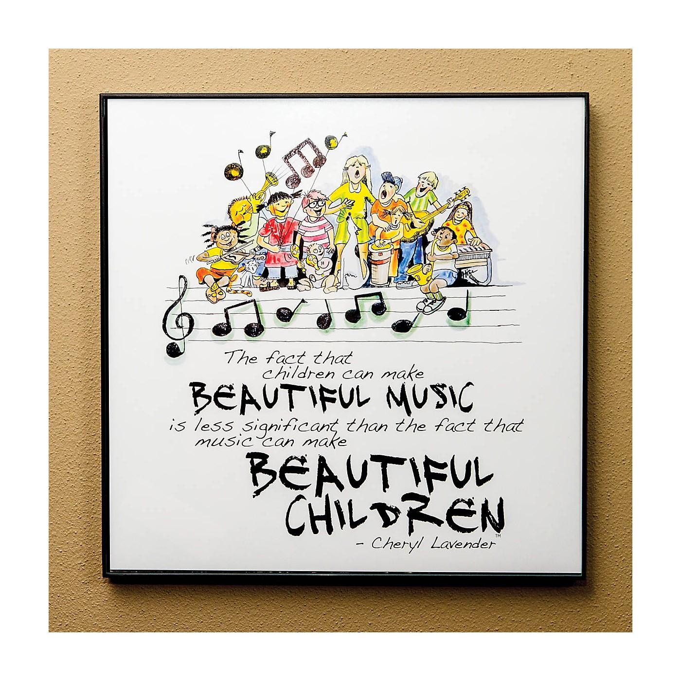 Hal Leonard Beautiful Music, Beautiful Children Print (12x12 Framed Print) Composed by Cheryl Lavender thumbnail
