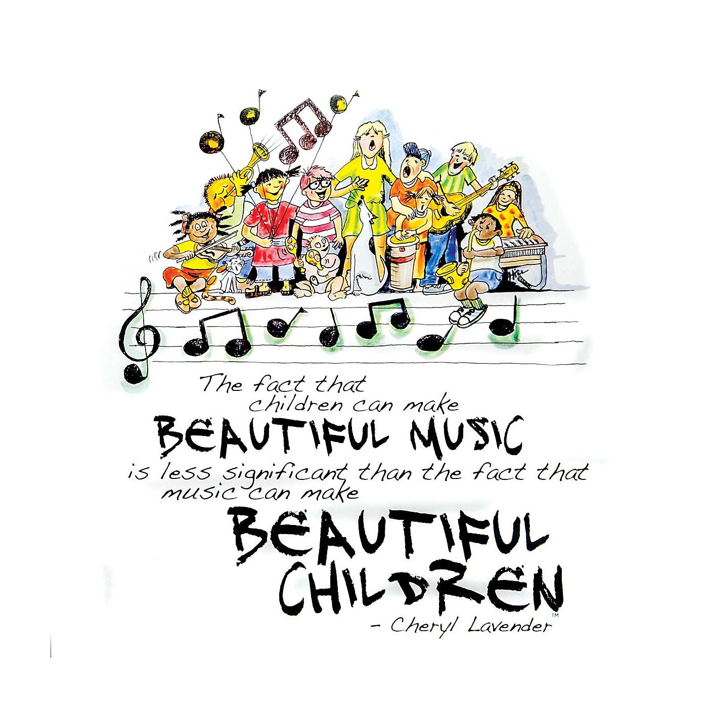 Hal Leonard Beautiful Music, Beautiful Children Print (12x12 Unframed Print) Composed by Cheryl Lavender thumbnail