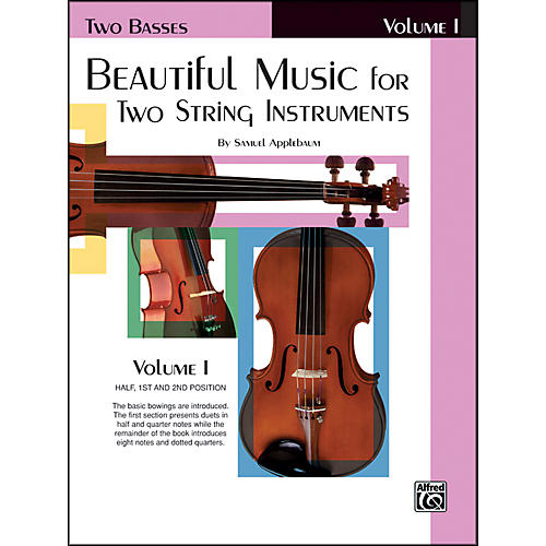 Alfred Beautiful Music for Two String Instruments Book I 2 Basses thumbnail