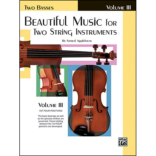Alfred Beautiful Music for Two String Instruments Book III 2 Basses thumbnail