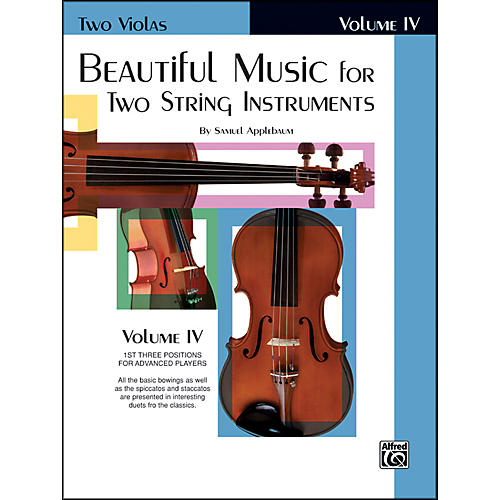 Alfred Beautiful Music for Two String Instruments Book IV 2 Violas thumbnail