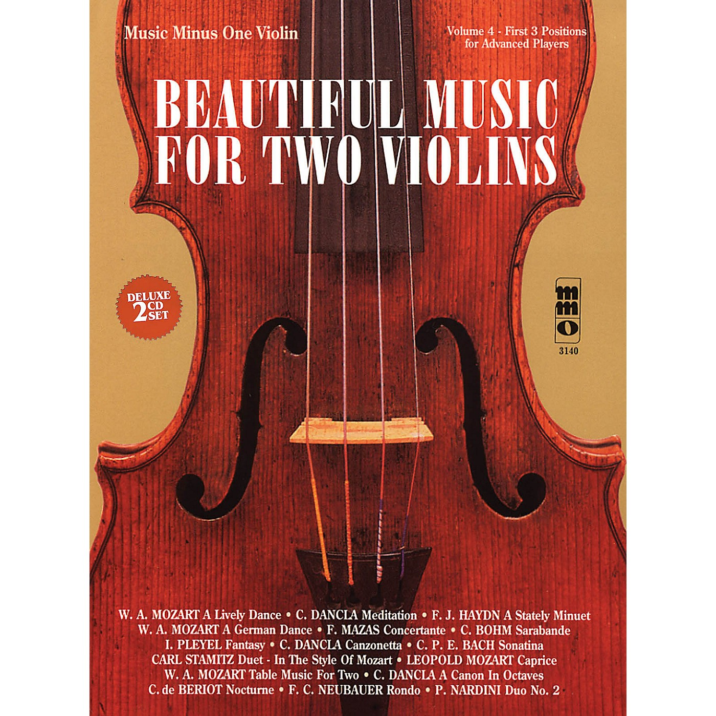 Music Minus One Beautiful Music for Two Violins (2-CD Set) Music Minus One Series Softcover with CD Composed by Various thumbnail