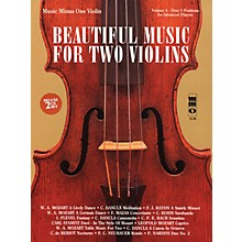 Music Minus One Beautiful Music for Two Violins (2-CD Set) Music Minus One Series Softcover with CD Composed by Various