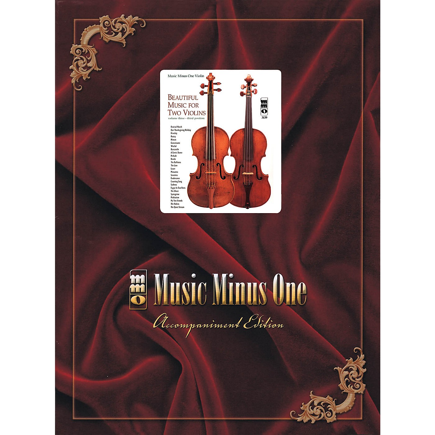 Music Minus One Beautiful Music for Two Violins (Volume III: 3rd Position) Music Minus One Series Softcover with CD thumbnail