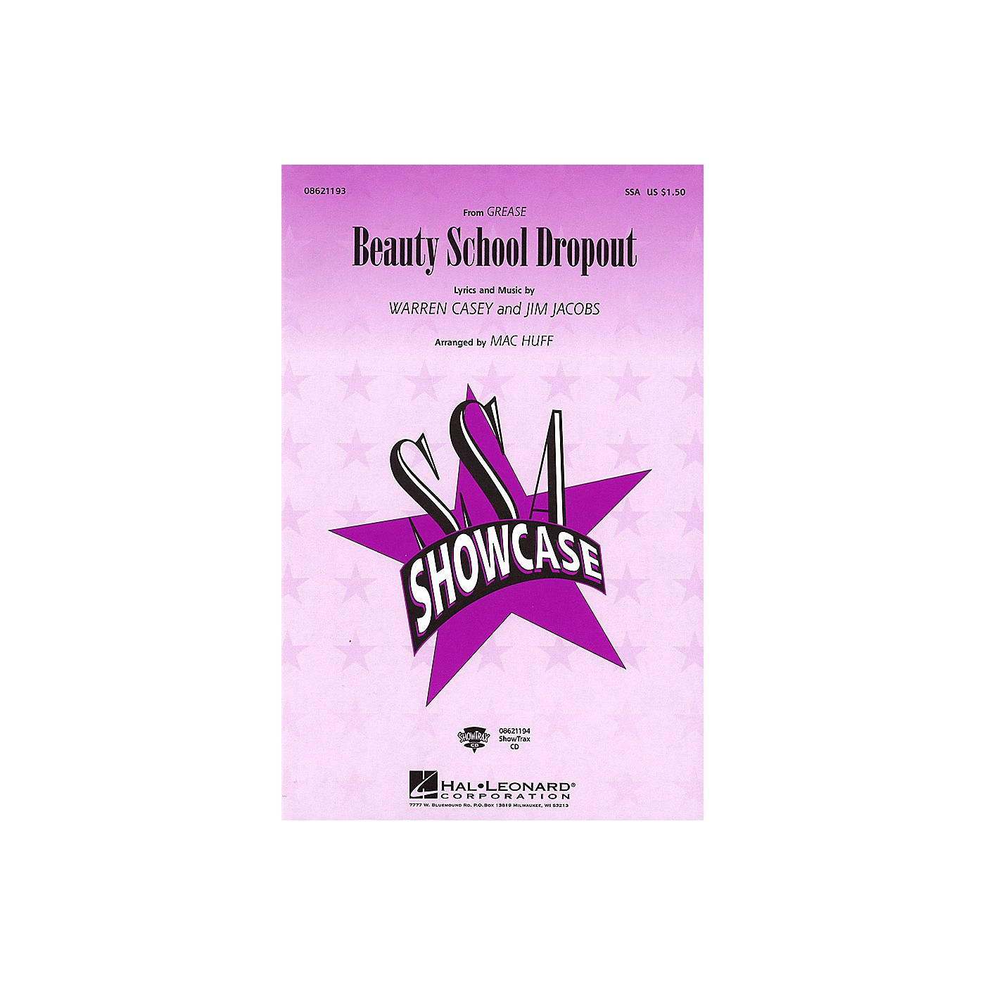 Hal Leonard Beauty School Dropout (from Grease) SSA arranged by Mac Huff thumbnail