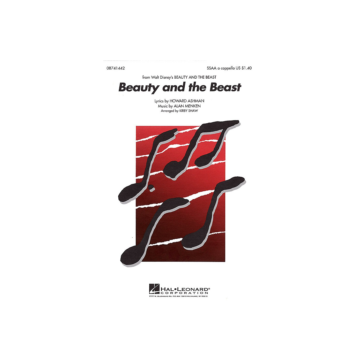 Hal Leonard Beauty and the Beast SSAA A Cappella arranged by Kirby Shaw thumbnail