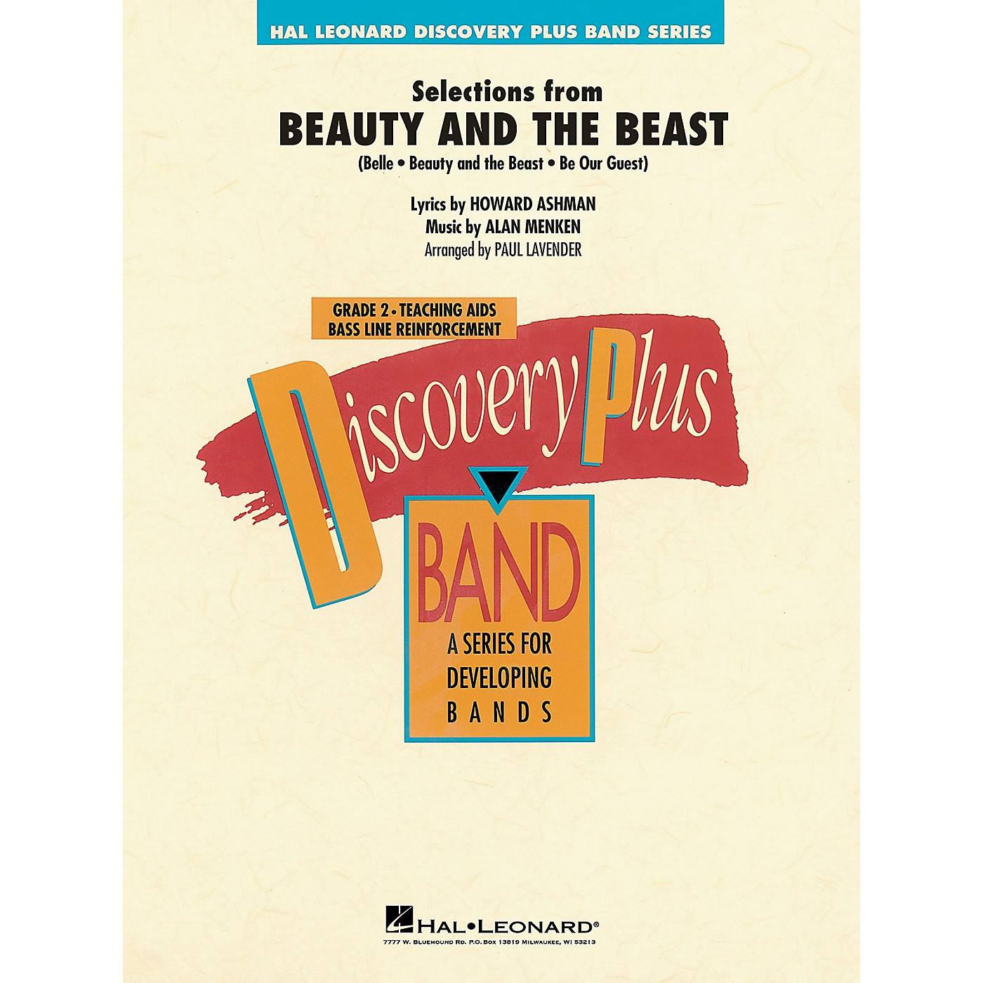 Hal Leonard Beauty and the Beast, Selections from Concert Band Level 2 Arranged by Paul Lavender thumbnail