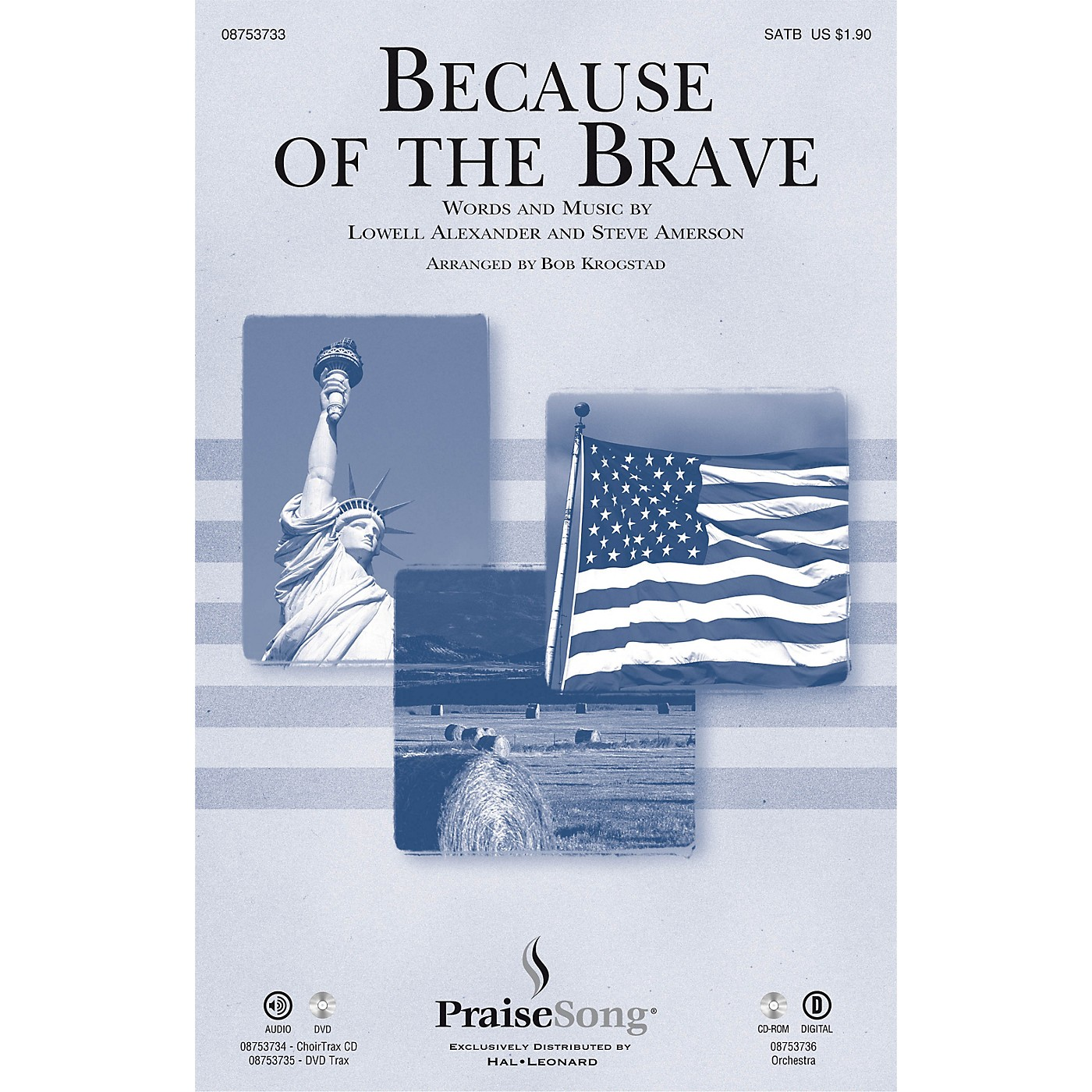 PraiseSong Because of the Brave SATB arranged by Bob Krogstad thumbnail