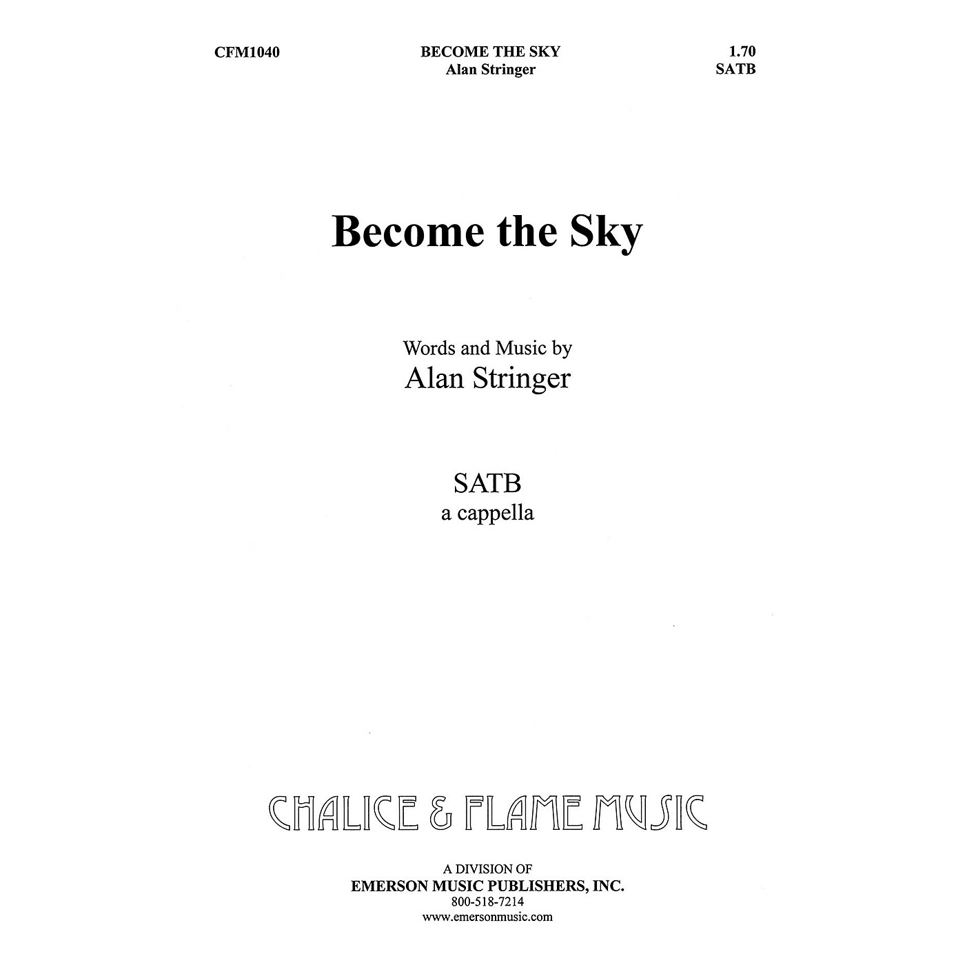 Hal Leonard Become The Sky SATB composed by Alan Stringer thumbnail