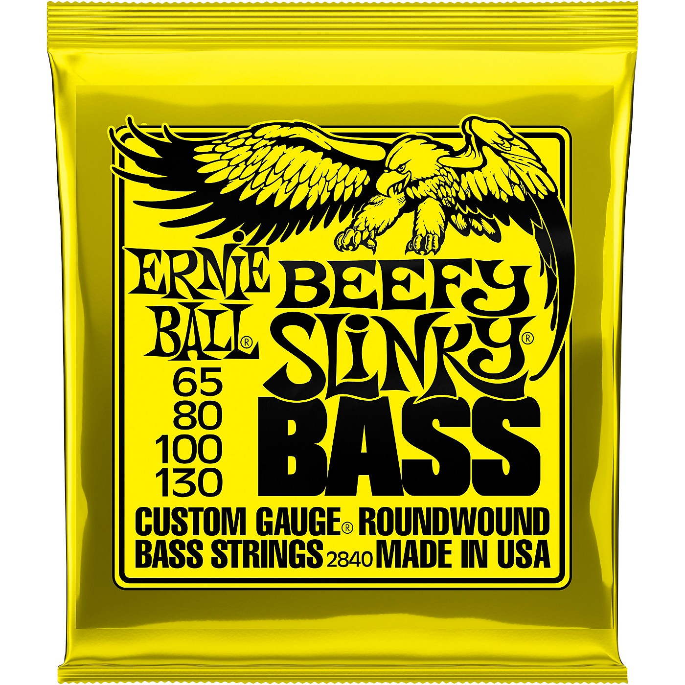 Ernie Ball Beefy Slinky Nickel Wound Electric Bass Guitar Strings - 65-130 Gauge thumbnail