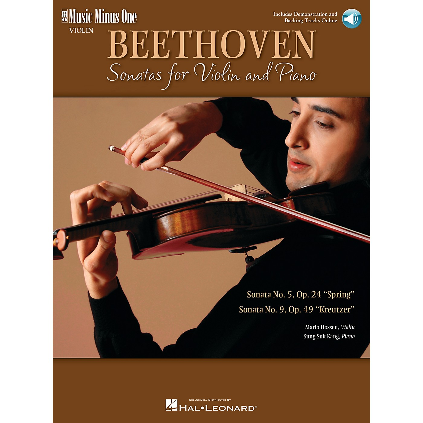 Music Minus One Beethoven - Two Sonatas for Violin and Piano Music Minus One Softcover with CD by Ludwig van Beethoven thumbnail