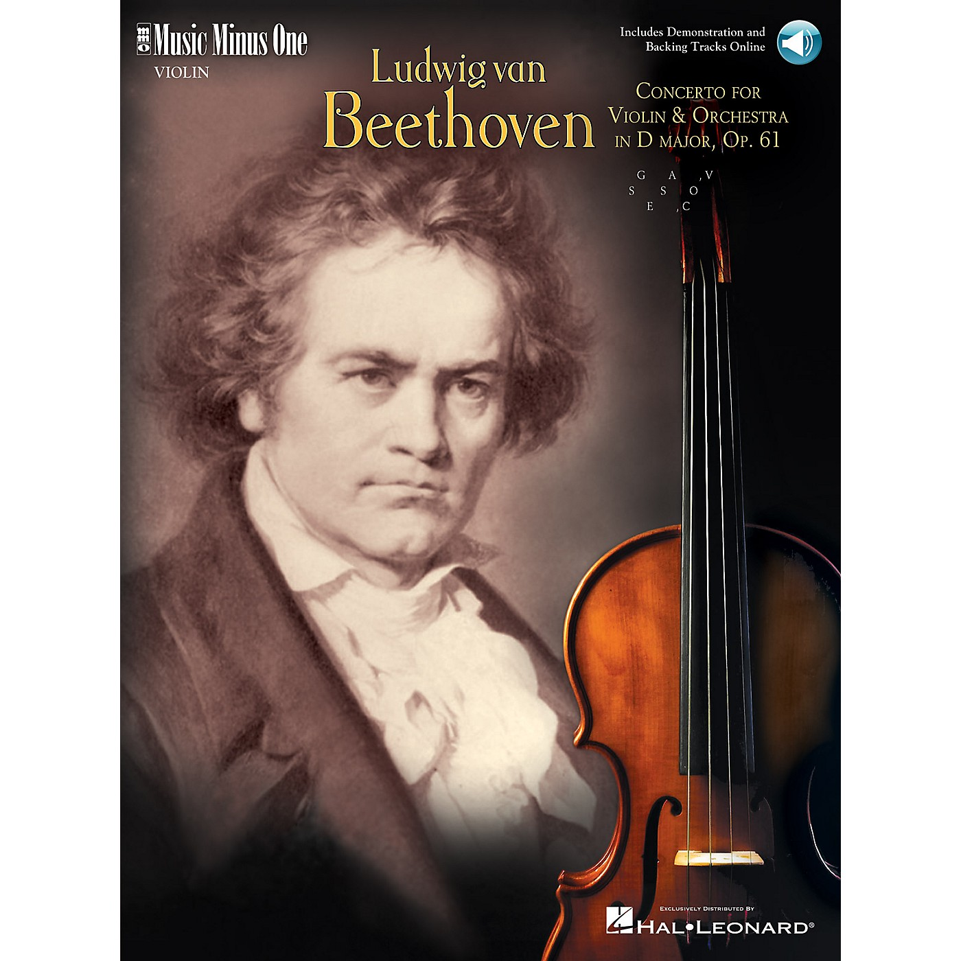 Music Minus One Beethoven - Violin Concerto in D Major, Op. 61 (2-CD Set) Music Minus One Series Softcover with CD thumbnail