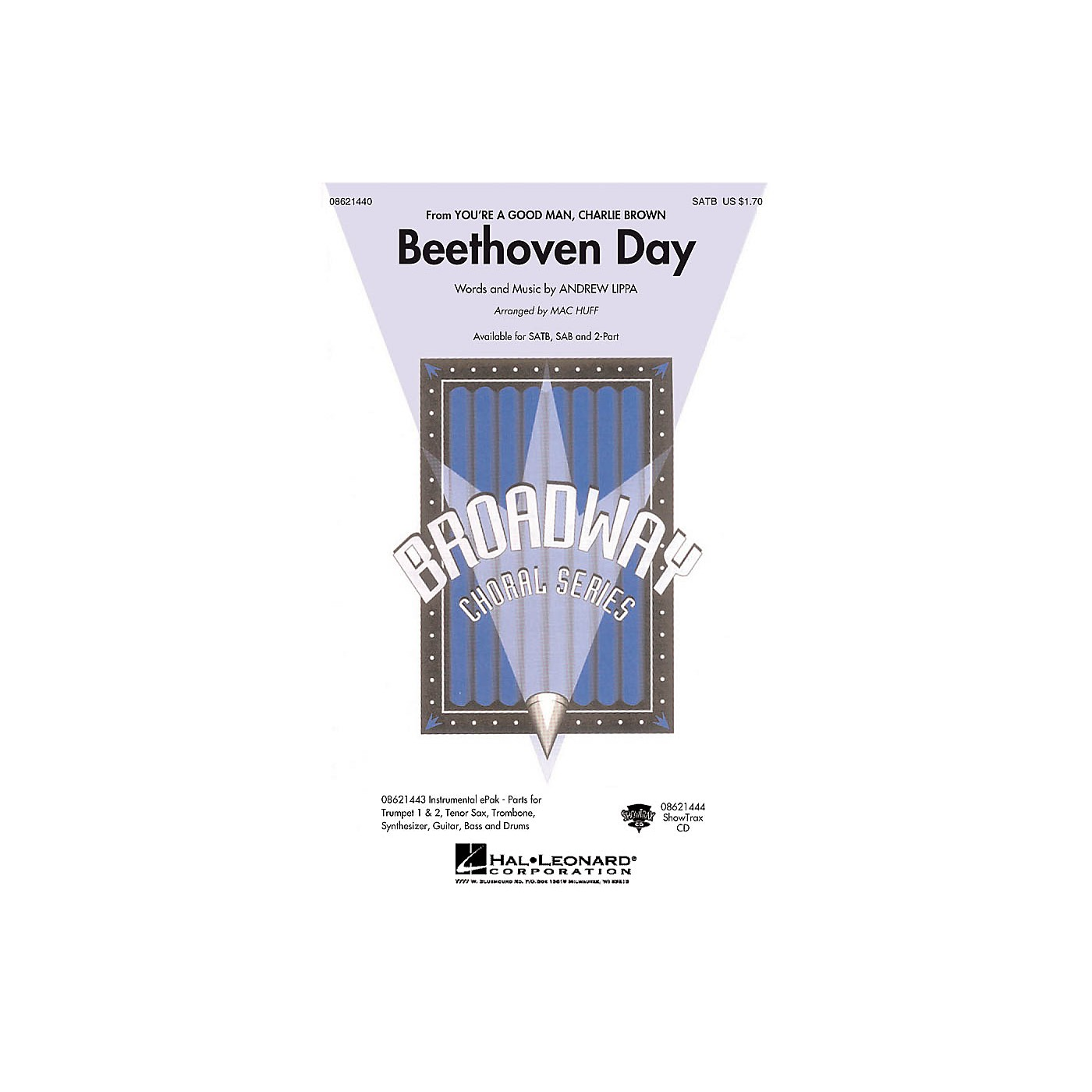 Hal Leonard Beethoven Day (from You're a Good Man, Charlie Brown) SATB arranged by Mac Huff thumbnail