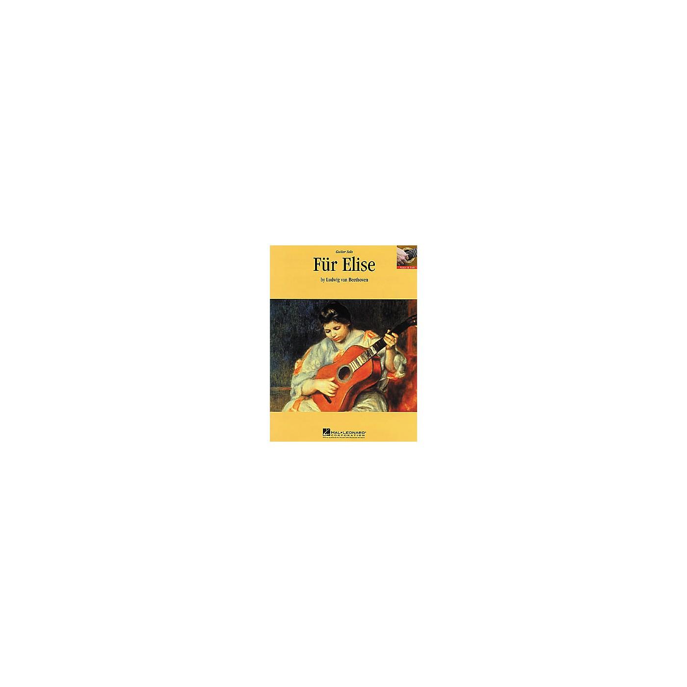 Hal Leonard Beethoven: Fur Elise Guitar Sheet Music Book thumbnail