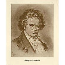 Music Sales Beethoven (Lupas Portrait Poster) Music Sales America Series