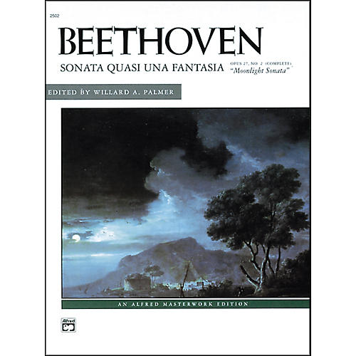 Alfred Beethoven Moonlight Sonata Op. 27 No. 2 (Complete) Late Intermediate/Early Advanced Piano Solo thumbnail