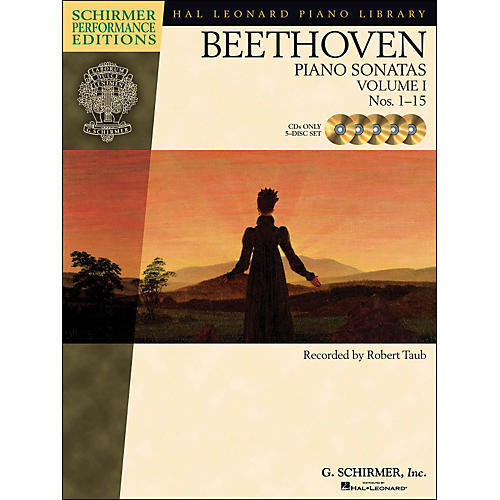 Hal Leonard Beethoven: Piano Sonatas Vol 1 (1 - 15) Schirmer Performance Edition CD's (Set of  5) By Beethoven / Taub-thumbnail