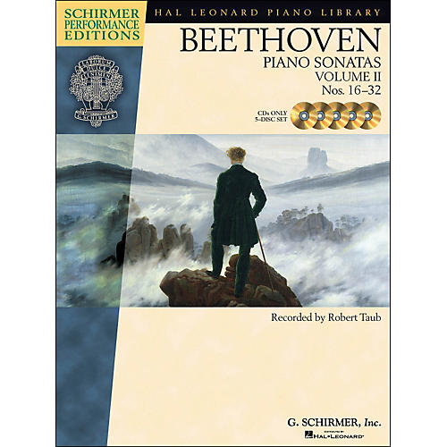 Hal Leonard Beethoven: Piano Sonatas Vol 2 - Schirmer Performance Edition CD's (Set of 5) By Beethoven / Taub thumbnail