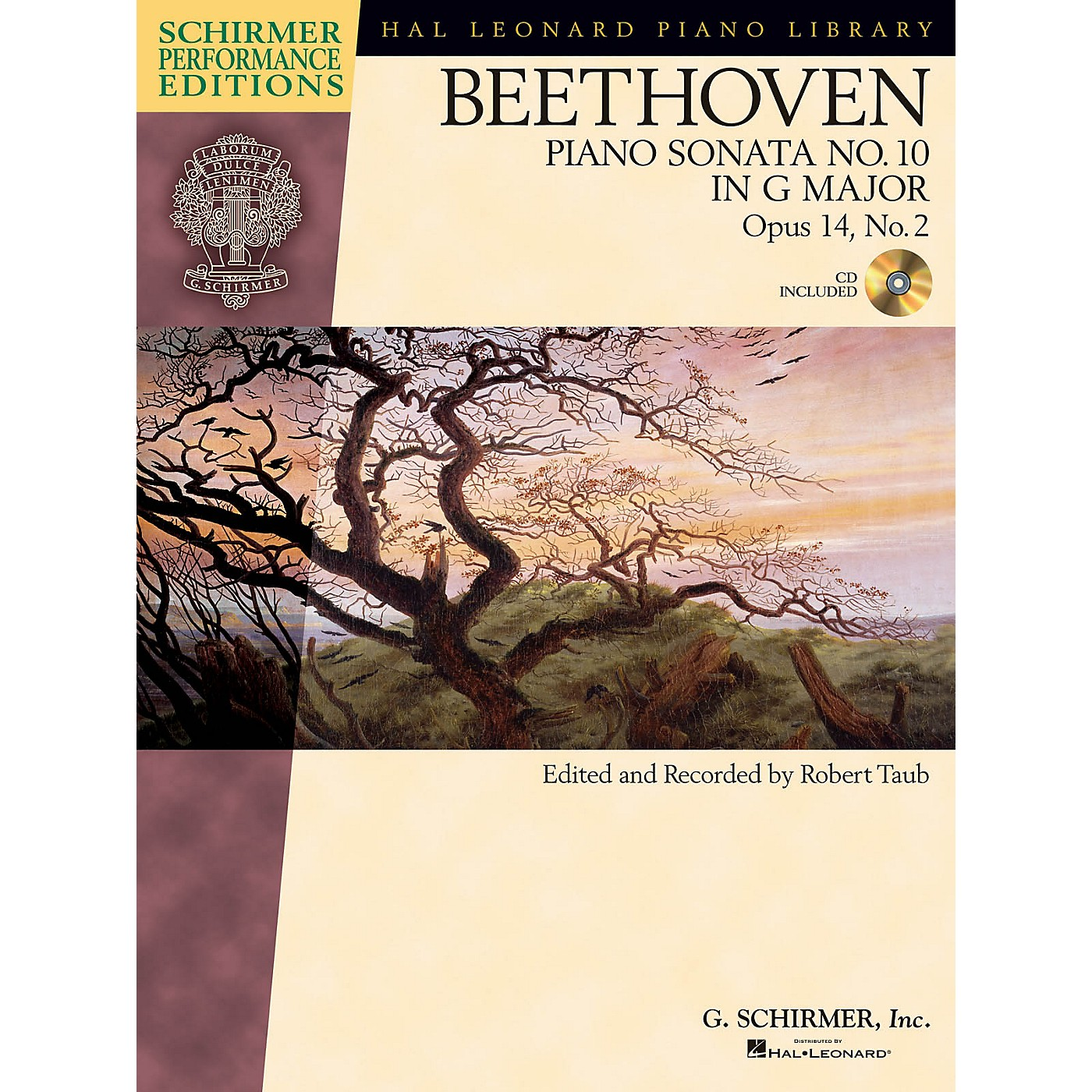 G. Schirmer Beethoven Sonata No 10 in G Maj Op 14 No 2 Schirmer Performance Edition BK/CD by Beethoven Edited by Taub thumbnail