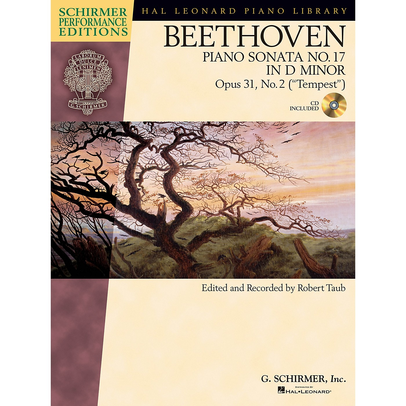 G. Schirmer Beethoven: Sonata No 17 in D Min Op 31 No. 2 (Tempest) Schirmer Performance Edition BK/CD Edited by Taub thumbnail