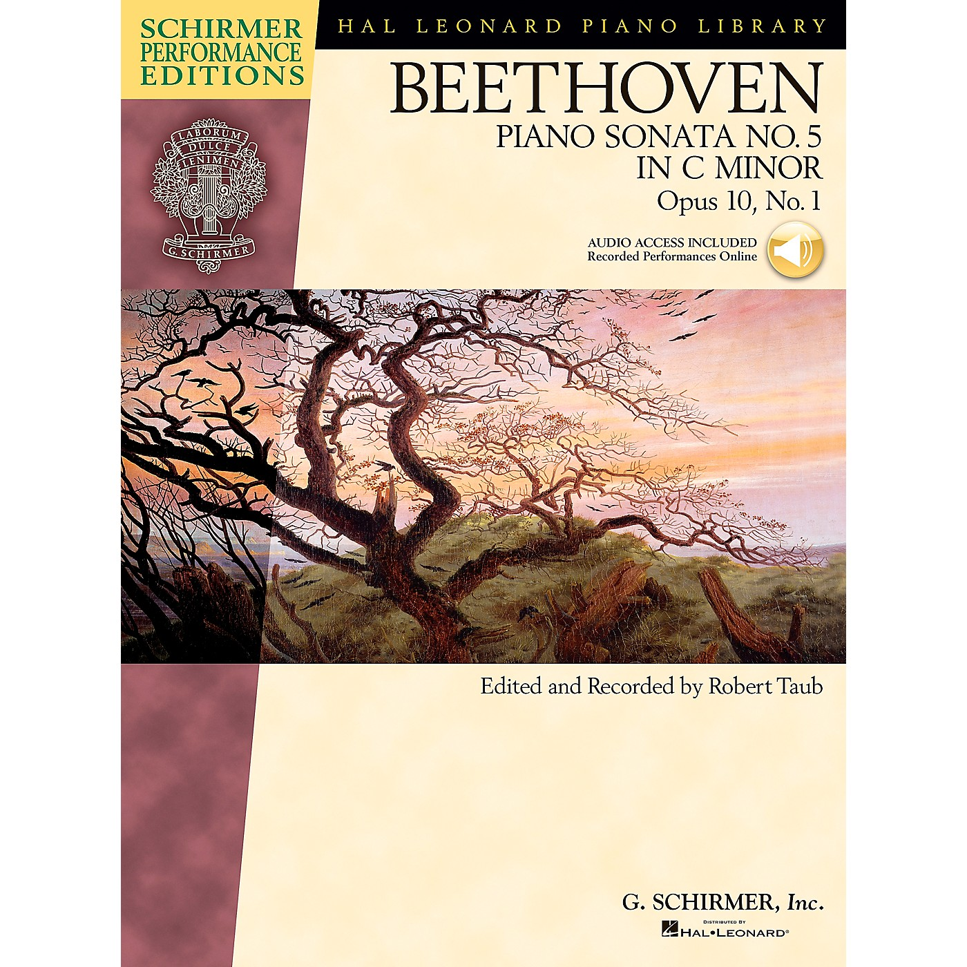 G. Schirmer Beethoven: Sonata No 5 in C Min Op 10 No 1 Schirmer Performance Edition BK/CD by Beethoven Edited by Taub thumbnail