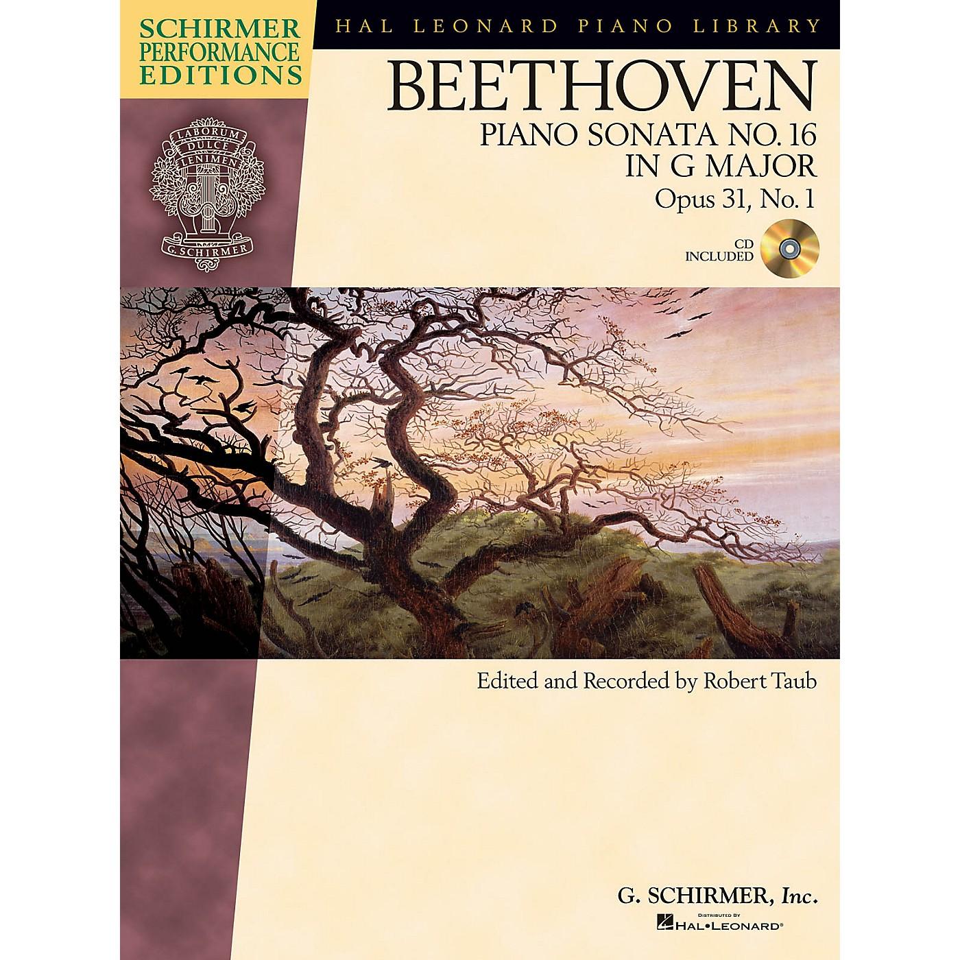 G. Schirmer Beethoven: Sonata No. 16 in G Major, Opus 31, No. 1 Schirmer Performance Edition BK/CD Edited by Taub thumbnail