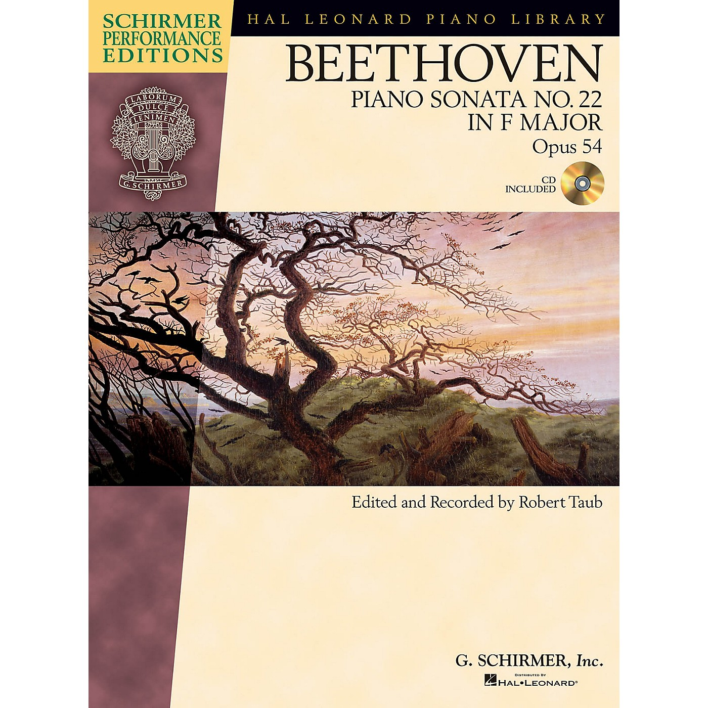 G. Schirmer Beethoven: Sonata No. 22 in F Major, Opus 54 Schirmer Performance Edition BK/CD Edited by Taub thumbnail