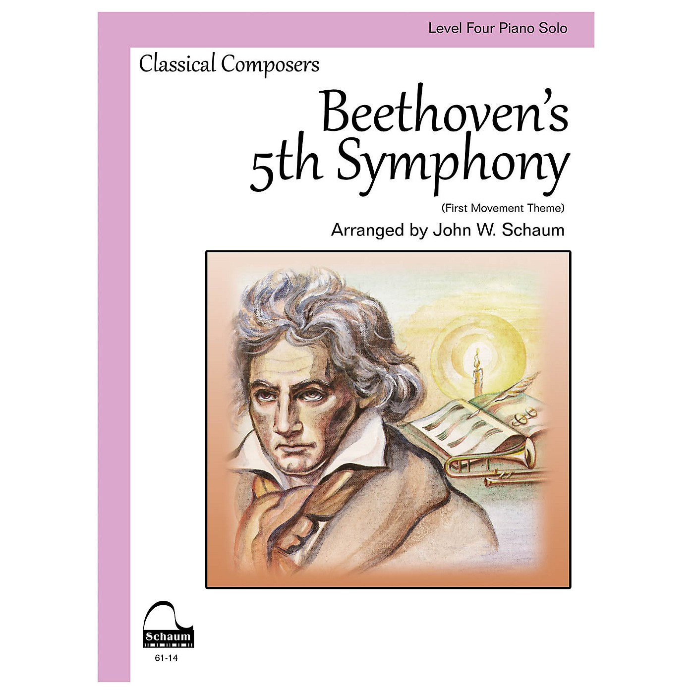 SCHAUM Beethoven's 5th Symphony Educational Piano Book by Ludwig van Beethoven (Level 4) thumbnail