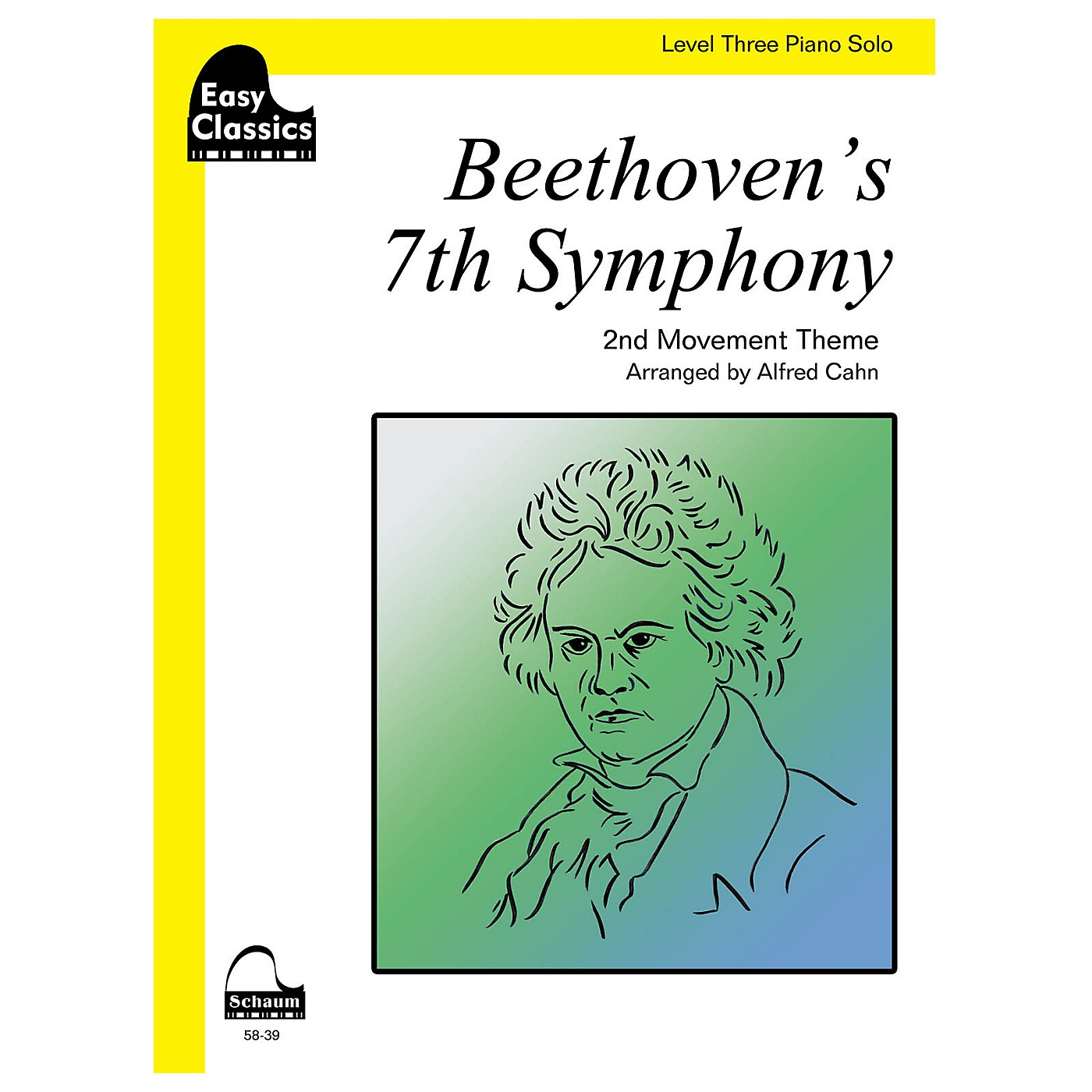 SCHAUM Beethoven's 7th Symphony Educational Piano Series Softcover thumbnail