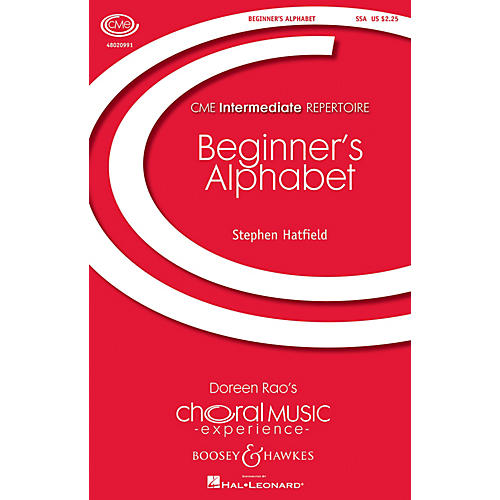 Boosey and Hawkes Beginner's Alphabet (CME Intermediate) SSA composed by Stephen Hatfield thumbnail